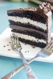 在蛋糕掩藏圆环 库存图片