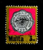 在蜂窝,小数货币serie的蜂,大约1972年 库存照片