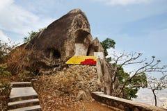 在蜜月的岩层指向,莫乌恩特阿布, Sirohi区, 免版税图库摄影