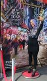 在蜡的珍娜大理石采取在NY的Selfie 免版税库存图片