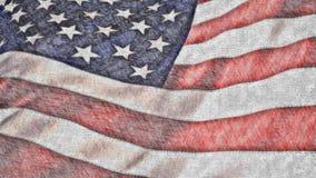 在蜡笔4K圈的美国国旗 库存例证