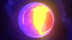 在蠕虫孔的球形 皇族释放例证