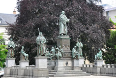 在蠕虫的路德纪念碑,德国 库存图片