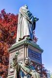 在蠕虫的马丁・路德纪念品 免版税图库摄影