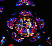 在蠕虫-两个天使的彩色玻璃 库存照片