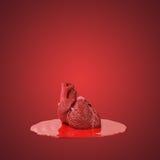 在血库的人的心脏 库存照片