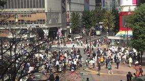 在行人交叉路涩谷东京人群的看法  E 影视素材