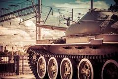 在行动的坦克 免版税图库摄影