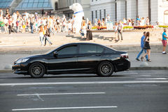 在行动的汽车 免版税库存图片