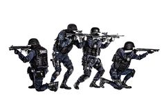 在行动的特警队 免版税图库摄影
