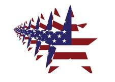 在行动的美国国旗星 免版税库存图片