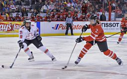 IIHF妇女的冰球世界冠军 免版税库存图片