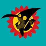 在行动的Ninja 免版税库存图片