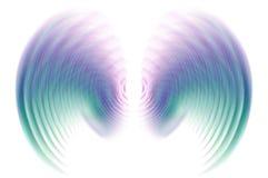 在行动迷离-蓝色的翼 库存照片
