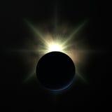在行星日出的地球 库存照片