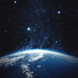 在行星朝阳的美丽的地球欧洲 美国航空航天局装备的这个图象的元素 库存图片