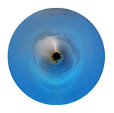 在行星的两雷击 免版税图库摄影
