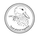 在行星的保护和补救的贴纸,参加fo 免版税图库摄影