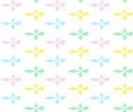 在行的五颜六色的rhombs与之字形 免版税库存图片