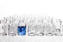 在行的科学小瓶 库存照片