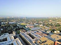 在街市休斯敦,得克萨斯西部的鸟瞰图第四病区区 免版税库存照片