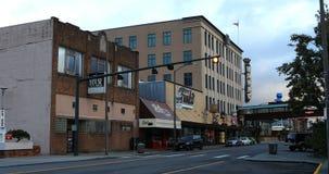 在街市埃弗里特,华盛顿4K的街道场面 股票视频