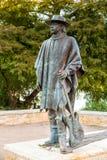 在街市奥斯汀和Co前面的史蒂维・雷・沃恩雕象 免版税库存照片