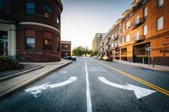在街市格林斯博罗窒息地方,北卡罗来纳 免版税库存图片