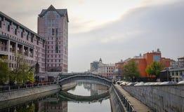 在街市的大厦在莫斯科,俄罗斯 库存照片
