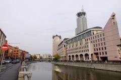 在街市的大厦在莫斯科,俄罗斯 库存图片