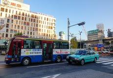 在街市的街道在东京,日本 库存图片
