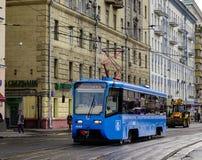 在街市的街道在莫斯科,俄罗斯 库存照片