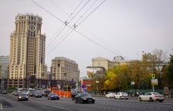 在街市的街道在莫斯科,俄罗斯 图库摄影