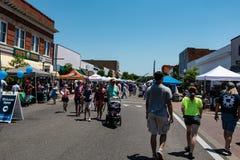 在街市Prattville的Cityfest 图库摄影
