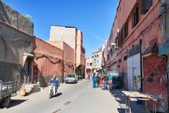在街道上在麦地那 马拉喀什 摩洛哥 免版税库存图片
