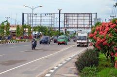 在街道上在Dumai 印度尼西亚 免版税库存照片