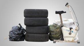 在街道上放弃的一些废物 可利用的PNG 库存图片