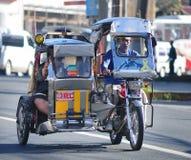 在街道上的三轮车,博拉凯,菲律宾 免版税库存图片