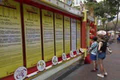 在街道上的中国占星 库存照片