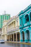 在街道上的五颜六色的房子 库存照片