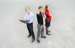在街道上的企业队 免版税库存照片