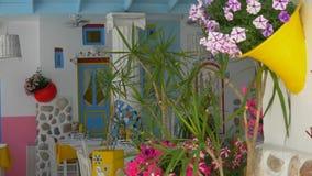在街道上的传统地中海样式花装饰 影视素材