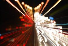 在街道上的光足迹 库存图片