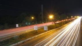 在街道上的光 库存照片
