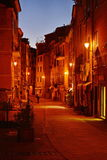 在街道上的夜 库存照片