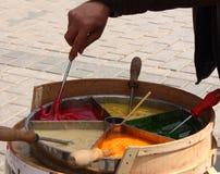 在街道上的棒棒糖厨师在伊斯坦布尔 免版税图库摄影