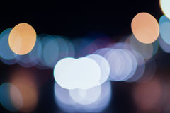 在街道上的模糊的光 图库摄影