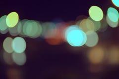 在街道上的模糊的光 库存图片