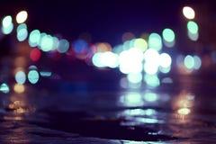 在街道上的模糊的光 免版税图库摄影