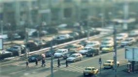 在街道上的步行者,时间间隔 股票视频